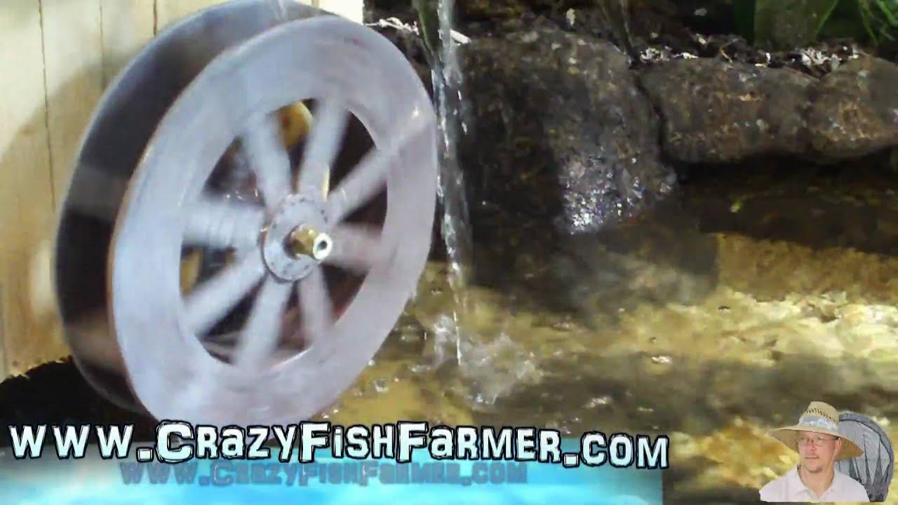 Cardboard Water Wheel Testing my Water Wheel That is