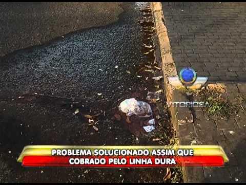 Vazamento de água em rua no Santa Mônica persiste a 15 dias - parte 2