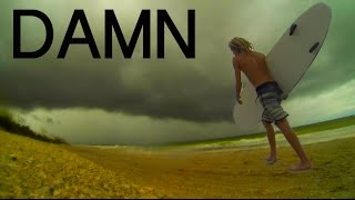 SURFING IN A LIGHTNING STORM! (Tropical Storm Aftermath)