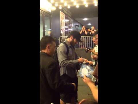 Trocando umas palavras com o Jake Gyllenhaal em NY