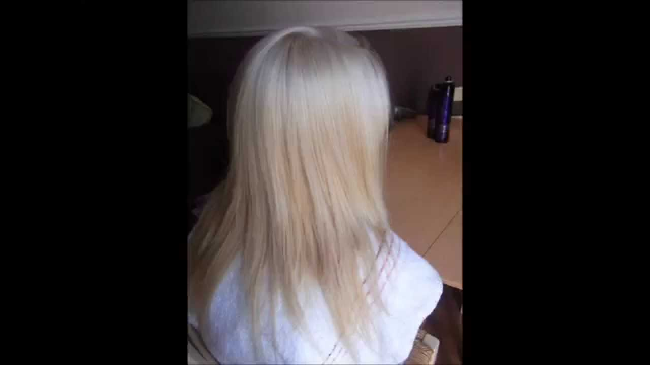 Mahogany Red Hair Colour To Platinum Blonde In Three