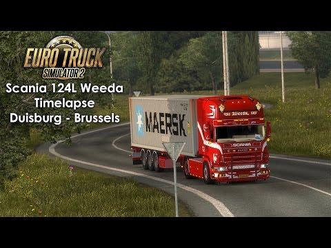 [ETS2] Scania 124L Weeda Transport, Duisburg - Brussels Timelapse