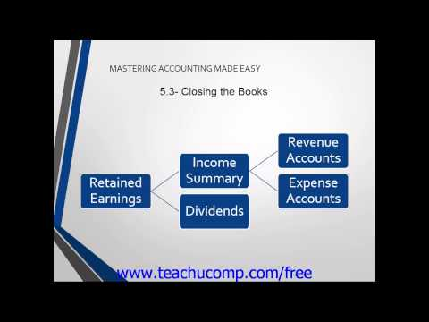 Accounting Tutorial 2.0 Closing the Books Training Lesson 5.3