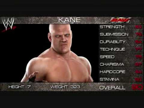 WWE Smackdown vs Raw 2009 Official Roster! part 3