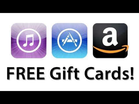 How To Get Free iTunes/App Store And Amazon Gift Cards