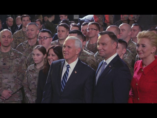 V.P. Pence in Poland and Germany quotWe will deal with the world as it is, not as we wish it to be.quot