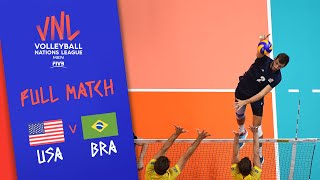 USA v Brazil - Full Match - 3rd Place | Men's VNL 2018