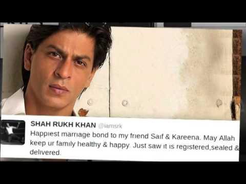 Shahrukh Khan, Aishwarya Rai Bachchan Congratulate Saif Kareena   Bollywood News Hd   Video Dailymot video
