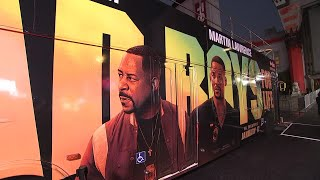 Will Smith cruises to 'Bad Boys' premiere