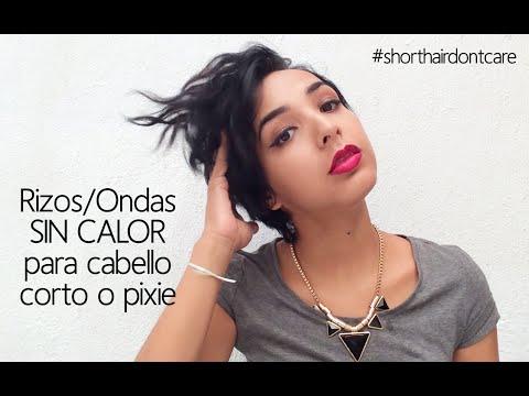 Logra Rizos y Ondas sin calor en cabello corto o pixie/Styling Short Hair #shorthairdontcare