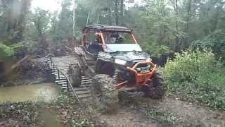 Tricky Rickety Bridge ATV Crossing by Polaris an Can Am