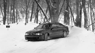 BMW e39 M5 Drift. Winter snow drift