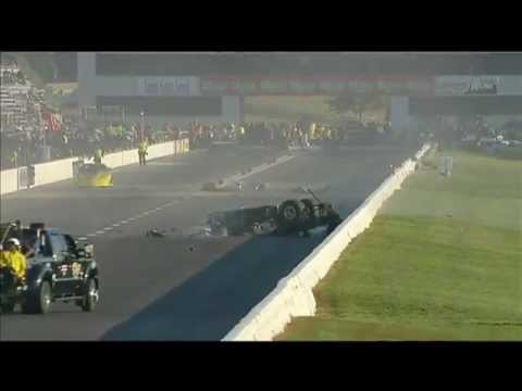 Pro Mod Driver Adam Flamholc crashes at the AAA Insurance Midwest NHRA Nationals