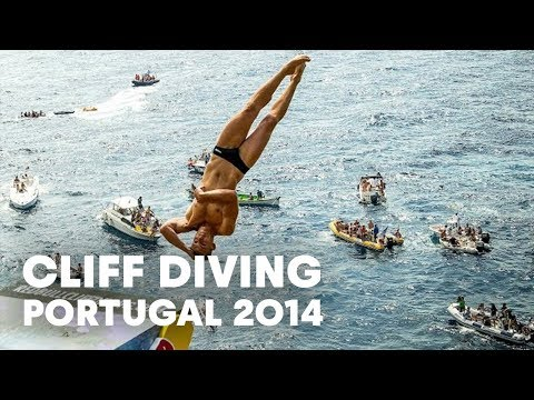 Cliff diving in Portugal - Red Bull Cliff Diving World Series 2014