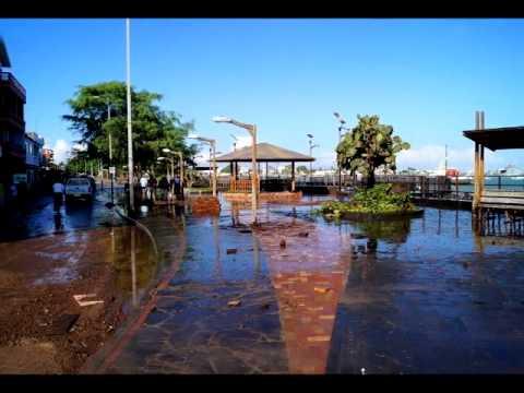 Aguaje afectó al principal malecón de San Cristóbal
