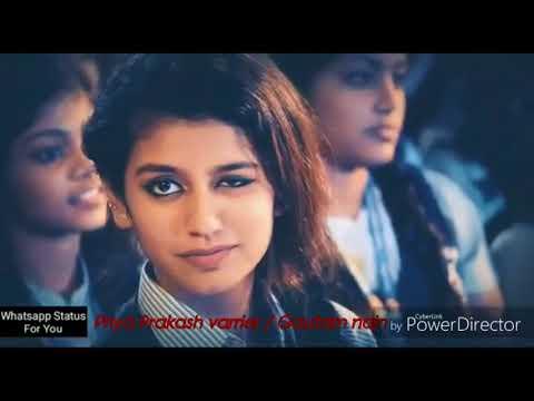 Priya prakash varrier viral song funny video watch every single boy story .  gautam nain