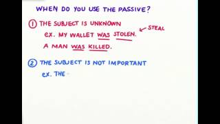 When to use the passive voice
