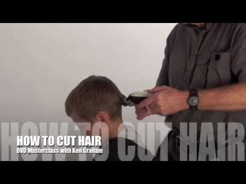 How to cut a childs hair with Clippers.  Tutorial by expert hairdresser Ken Graham