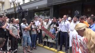 Е.Соболев на митинге в поддержку А.Лозового возле генпрокуратуры.
