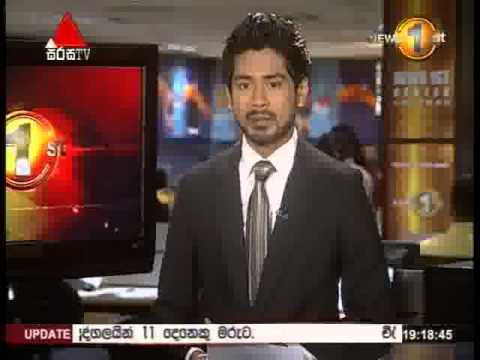 News 1st Prime time 7PM  Sirasa TV 1st May 2015