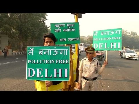 India: The world's most polluted city , New Delhi, tries to start the new year on a greener foot