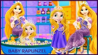 Enjoy Cute Baby Rapunzel Bath Time Game Video for Little Kids-Best Princess Rapunzel Games