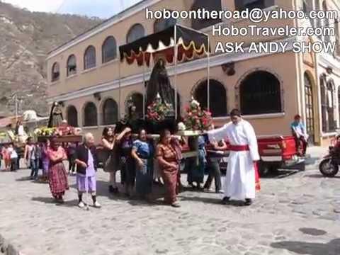 Easter Week Semana Santa Panajachel Lake Atitlan Guatemala 2015