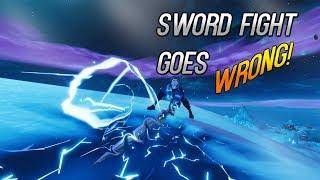 Sword Fight Mode Goes wRoNg!!   Fortnite Battle Royale