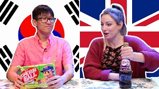 Korean & British People Swap Snacks