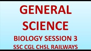 BIOLOGICAL EVOLUTIONS  GENERAL SCIENCE SESSION 3  FOR SSC CGL CHSL RAILWAYS