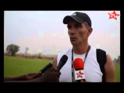FOOTBALL: PREMIERE SEANCE D'ENTRAINEMENT TP MAZEMBE AU MALI