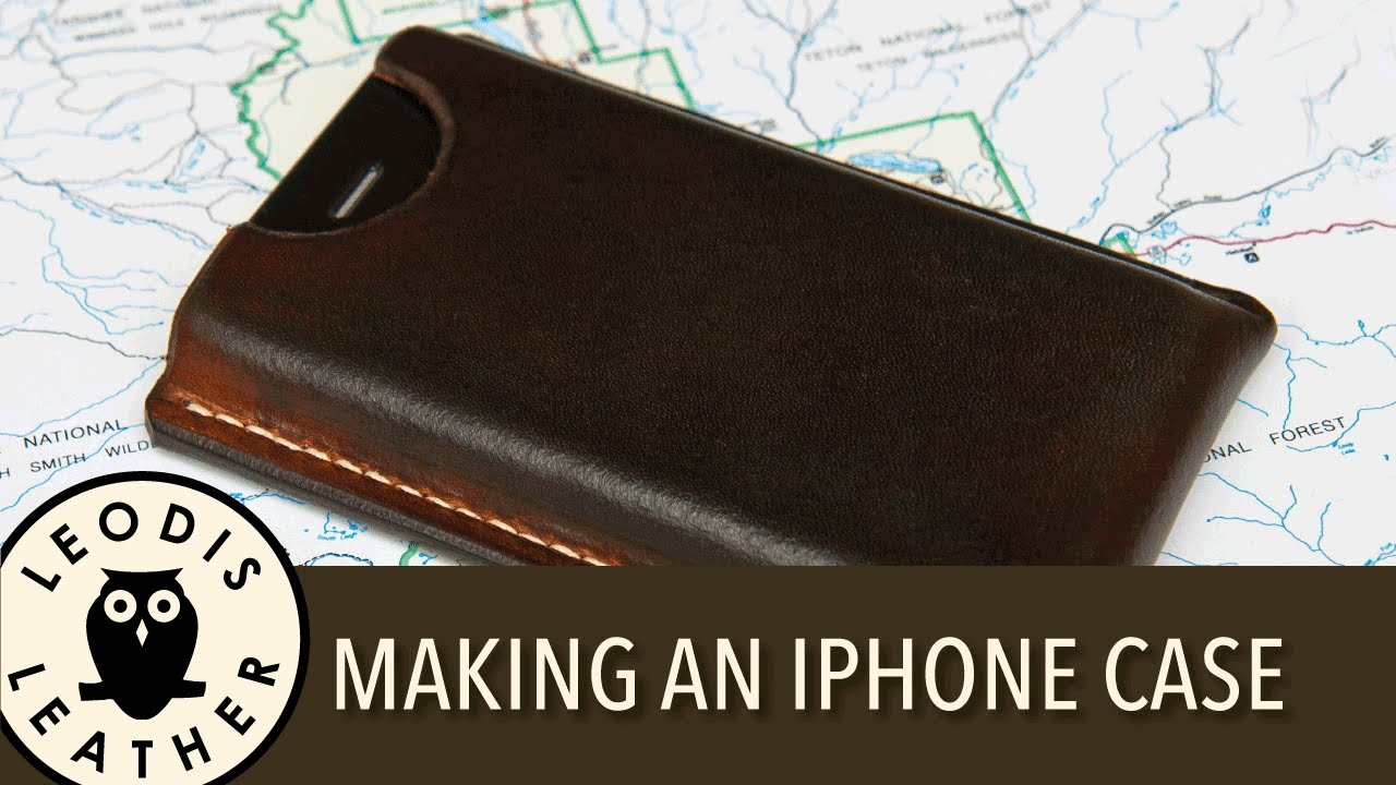 Making a leather case for an apple iphone 4 youtube for How to make a homemade phone case