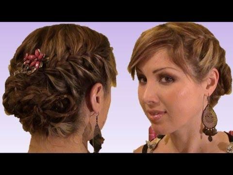 peinados semirecogidos con trenzas para graduacion