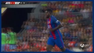 Samuel Umtiti vs Sampdoria (Home) 10/08/2016 | Debut for Barcelona | Spanish Commentary | HD