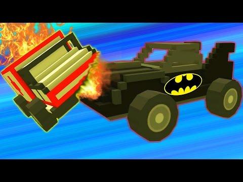 Blocky Demolition Derby #2 Игровой мультик про машинки танки тачки уничтожай соперника в гонках!!!