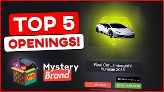 *INSANE* TOP 5 MYSTERYBRAND OPENINGS OF ALL TIME! BIGGEST MYSTERYBRAND WIN EVER!