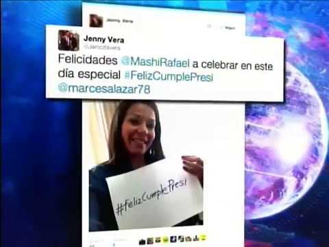 Presidente Rafael Correa mediante Twitter respondió a mensajes de simpatizantes