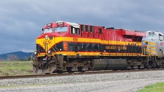 Trains on the Kansas City Southern Railway