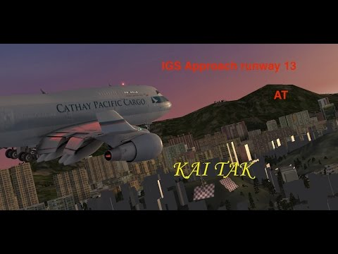 KAI TAK Approach | Cathay Pacific Cargo 747