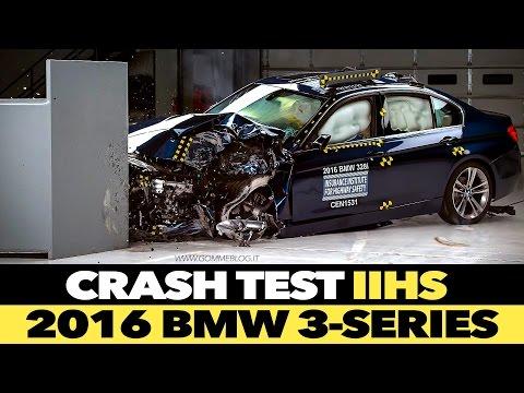 2016 BMW 3 series IIHS CRASH TEST Small Overlap [MARGINAL]