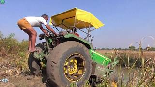 John Deer Tractor Stuck in Canal | Fail Completion | Rescue by Sonalika 60 Rx Tractor