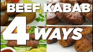 Beef Kabab 4 ways Recipes By Food Fusion