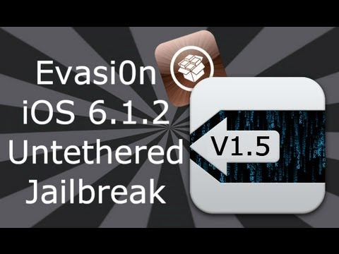 Evasi0n iOS 6 / 6.1.2 Jailbreak iPhone 5, 4S, 4, 3GS, iPad Mini, 4, 3, 2 & iPod Touch 5, 4
