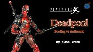 Play Arts Kai DEADPOOL Authentic vs Bootleg Comparison Review (English)