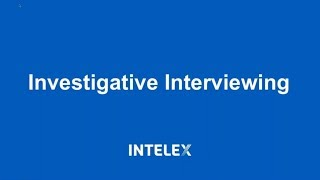 Investigative Interviewing Tips