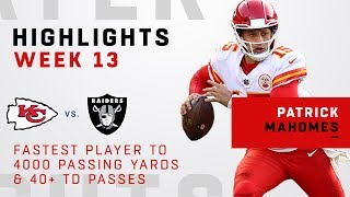 Patrick Mahomes' Record-Breaking 4-TD Day vs. Raiders!