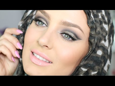 Glam Metallic Hijab Makeup with TRIPLE Winged Liner!