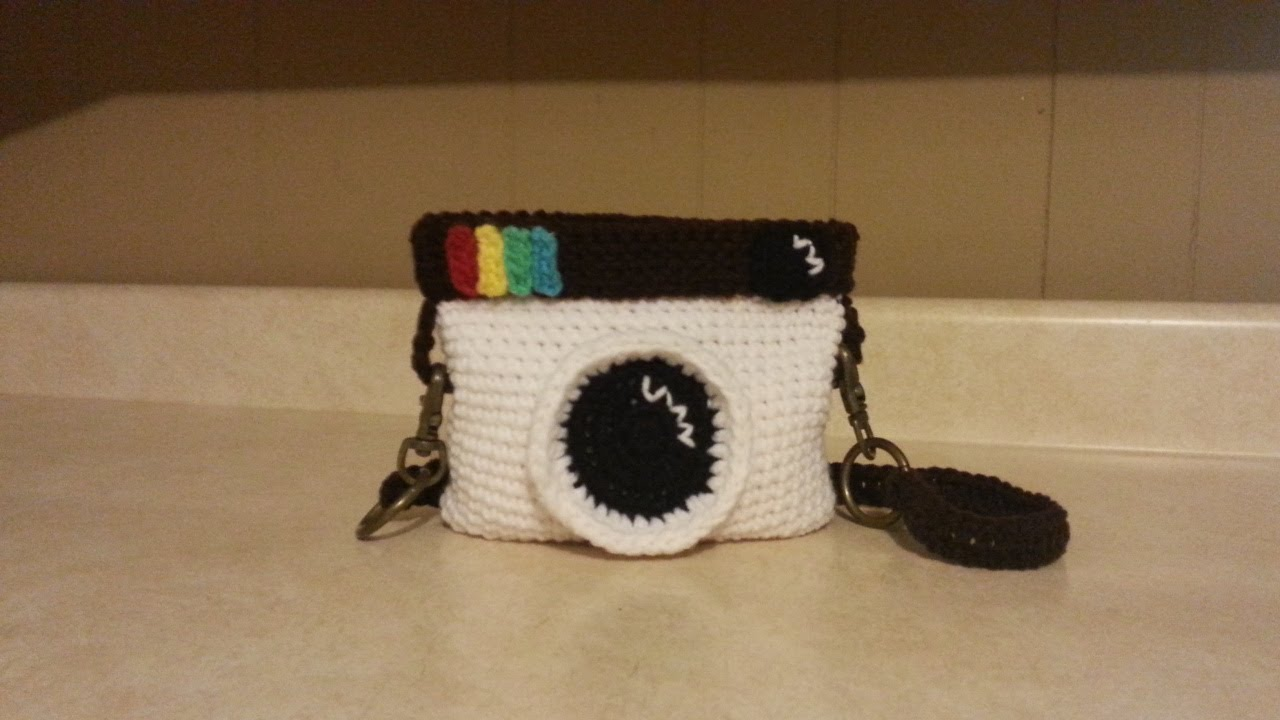 Crochet Bag Tutorial Youtube : Crochet Camera Handbag Purse #TUTORIAL - YouTube