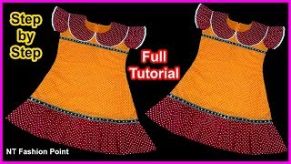 Just Beauty! Baby Girls Dresses/Frock Designs 2019 Step by Step Full Tutorial