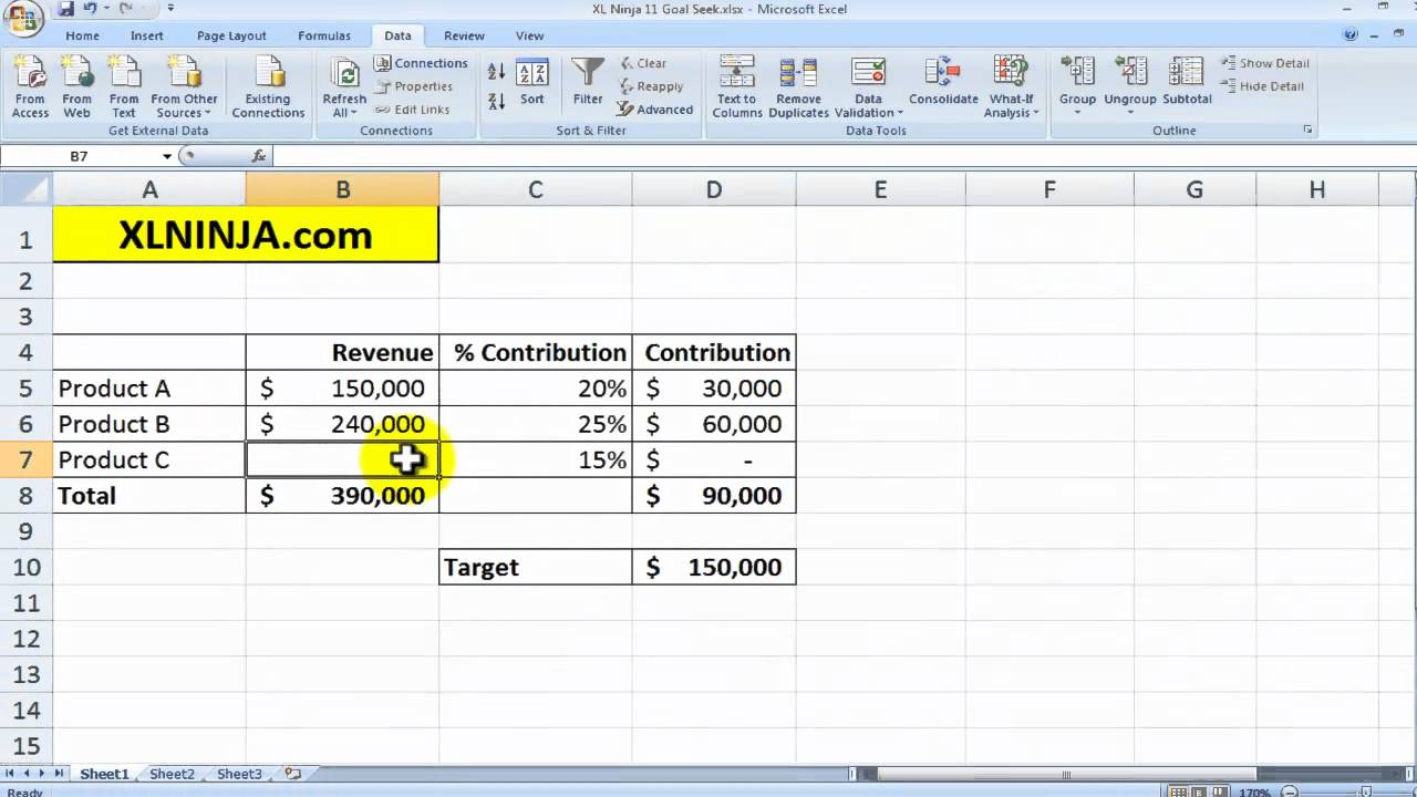 how to use the goal seek function in excel